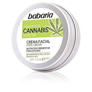 Babaria Crema Facial Nutrición y Bienestar con Aceite de Cannabis Seed Oil - 50 ml
