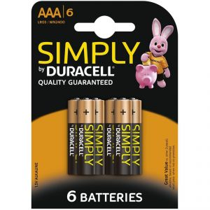 Duracell 6 Piles Alcaline Simply AAA