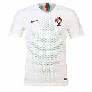 Nike Maillot de football 2018 Portugal Vapor Match Away pour Homme - Blanc - Taille 2XL