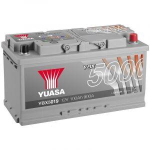 Yuasa Silver High Performance Batterie Auto 12V 100Ah 900A YBX5019 12V 100Ah 900A Silver High Performance Battery 353 x 175 x 190 mm +D