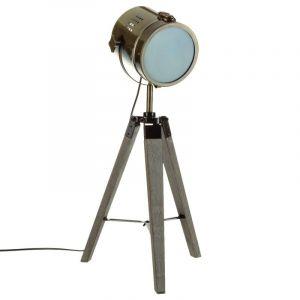 """Lampe en Métal & Bois """"Ébor"""" 68cm Or Prix"""