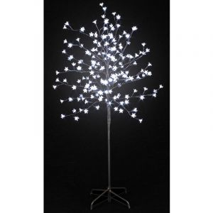 Pegane Arbre Prunus Lumineux 200 LED en Blanc - 150 cm