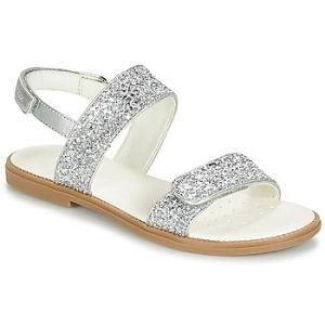 Geox Karly H, Sandales Bout Ouvert Fille, Argent (Silver), 31 EU