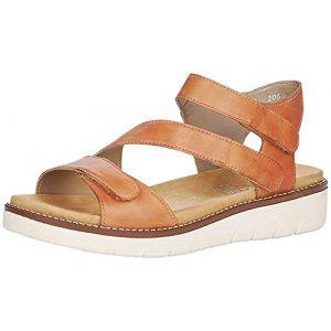 Remonte Femme Sandales, Dame Sandale à lanières,Spartiates,Sandales Gladiator,Chaussures d'été,Confortables,noccia / 24,36 EU / 3.5 UK