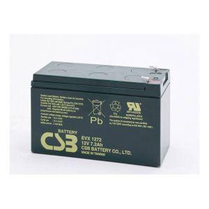 CSB battery Batterie au plomb 12 V 7.2 Ah EVX 1272 plomb (AGM) (l x h x p) 151 x 99 x 65 mm connecteur plat 6,35 mm résistant aux cycles de charge, sans