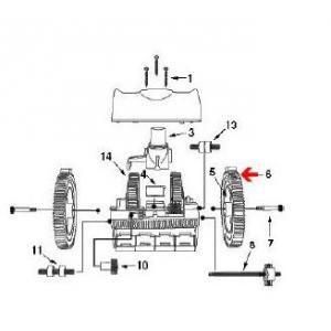 Procopi 1021006 - Pneu pour carrelage avec ergot de robot Victor
