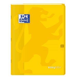 Oxford 400100060 EasyBook Cahier agrafé 24 x 32 cm 96 pages 90 g grands carreaux seyès Jaune