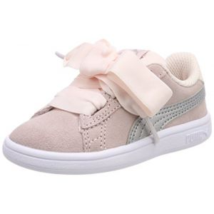 Puma Smash V2 Ribbon AC Inf, Sneakers Basses mixte bébé, Rose (Pearl Silver), 22 EU