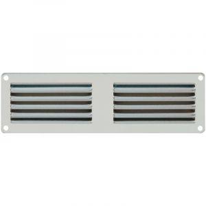 First Plast Grille ventilation 200x60mm Aluminium - Avec moustiquaire -
