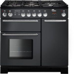 Falcon INF90DFSL - Piano de cuisson mixte 5 foyers gaz avec 3 fours électriques