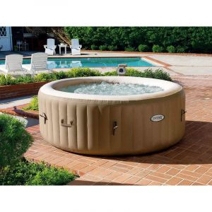 Intex Spa gonflable PureSpa rond Bulles 4 places