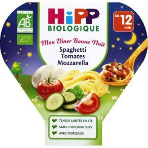 HiPP Biologique Mon dîner Bonne nuit : Spaghetti Tomates Mozza 230g - dès 12 mois
