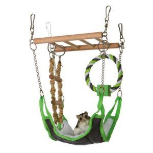 Trixie Pont suspendu en bois pour rongeur (17 x 22 x 15 cm)