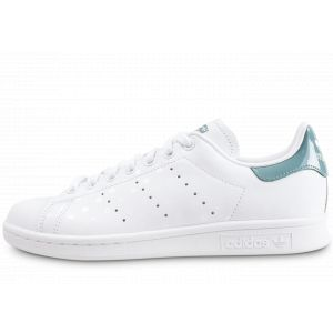 Adidas Stan Smith W, Chaussures de Tennis Femme, Blanc (FTWR White/FTWR White/Raw Green B41624), 38 EU