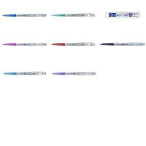 Uni Ball Recharge pour stylo effaçable Uniball TSI rouge pointe moyenne 0,7 mm - Pochette de 3