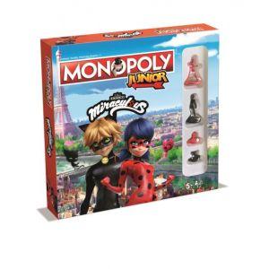 Winning Moves Jeu de société Monopoly Junior Miraculous Ladybug