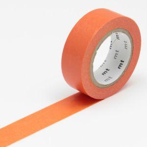 Masking tape mt Basic Uni - Orange foncé - 15 mm x 10 m