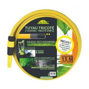 Cap Vert Tuyau tricoté 3 couches TP équipé Longueur 15 m Diamètre 15 mm