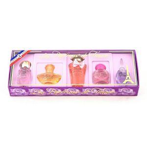 Les Parfums de France Coffret de 5 miniatures d'eau de parfum pour femme
