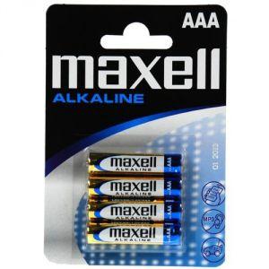 Maxell 4 piles alcalines AAA LR03 1.5V