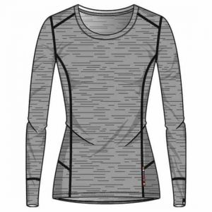 Odlo Vêtements intérieurs Natural 100% Merino Warm Suw Top - Grey Melange / Grey Melange - Taille S