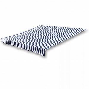 VidaXL Store banne en toile Bleu et Blanc 6 x 3 m (Cadre non inclus)