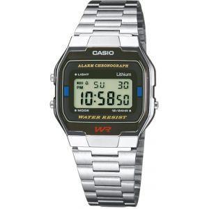 Casio A163WA-1QES - Montre mixte avec bracelet en acier