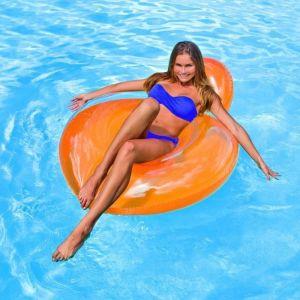 Intex Fauteuil de piscine gonflable adulte Glossy 137 x 122 cm (couleur aléatoire)