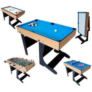 BCE Riley Billard table multi jeux 12 en 1 pliable