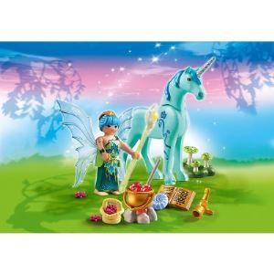 Playmobil 5441 Fairies - Fée guérisseuse avec licorne bleuet