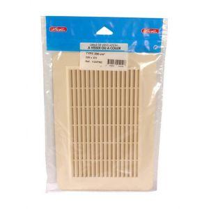 Nicoll Grille façade applique verticale moust. 200cm² sable, sachet 1GAPM2 -