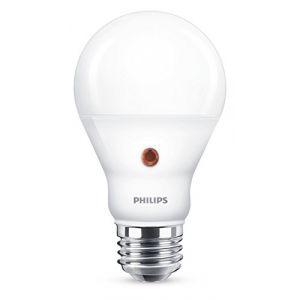 Philips lighting Philips Ampoule LED E27, 6,5W Équivalent 60W, Blanc Froid avec Détecteur Crépusculaire