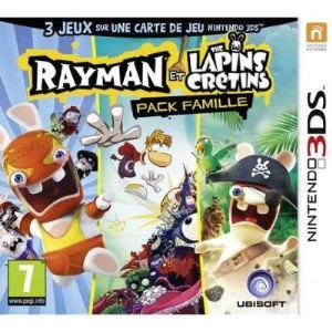 Rayman et les Lapins Crétins - Pack famille [3DS]