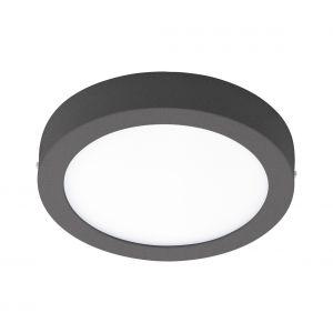 Eglo Applique/plafonnier LED d'extérieur Agrolis-C 16,5 W Rond Noir