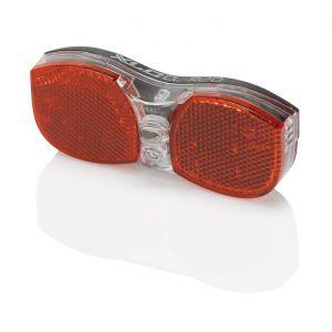 XLC Porte-bagages - Éclairage vélo - réflecteurs inclus rouge Lampes arrière