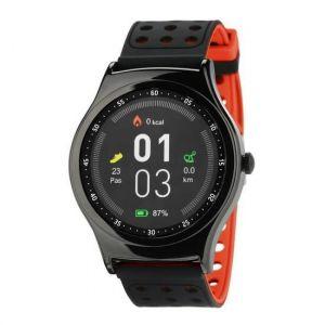 Wee'Plug Montre sport connectée Smartfit cardio - Bleutooth - Rouge - Ecran tactile FULL HD 1,3'' IPS - Résolution écran : 240 x 240 - Bluetooth 4.0 - Batterie : 180 mAh