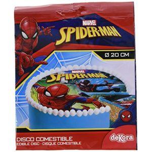 Image de Disque Spiderman (20 cm) - Sucre