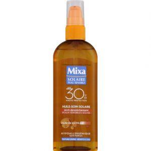 Mixa Huile soin solaire, anti-dessèchement, peaux sensibles sèches, huile de karité pur, IP 30