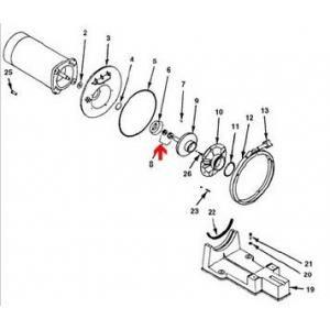Procopi 580132 - Garniture mécanique de pompe Sta-Rite P4R-6R pour eau de mer