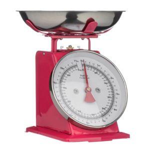 Premier housewares Balance de cuisine mécanique style rétro avec bol en inox 5 kg