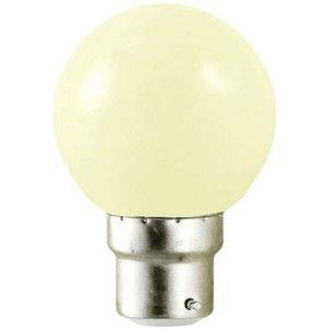 Vision-El Ampoule Led 0,8W culot B22 - Forme boule - Blanc chaud 3100°K