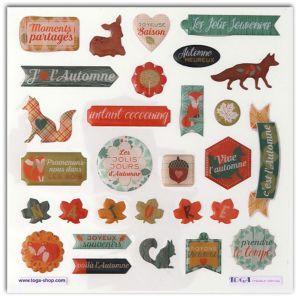 Toga 29 Stickers epoxy - Miel et cannelle