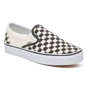Vans U Classic Slip-on, Baskets mode mixte adulte Blanc (Black & White/Checker White),38.5 EU