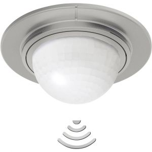 Steinel Détecteur de mouvements PIR 034917 pour lextérieur, pour lintérieur plafond 360 ° inox IP54