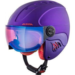 Alpina Carat LE Visor HM Casque de Ski enfants Pourpre 48-52 cm