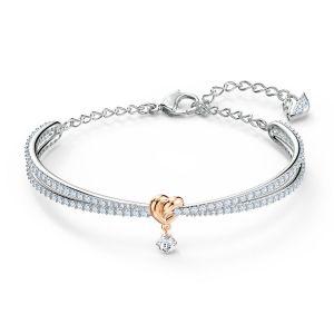 Swarovski BRACELET 5516544 - Bracelet blanc mini c?ur or Femme