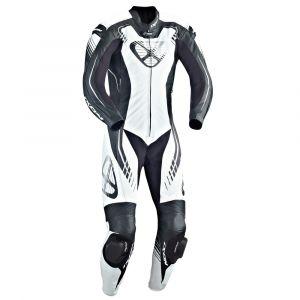 Ixon Combinaison cuir STARBUST noir/blanc/argent - 3XL