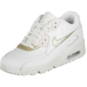 Nike Air Max 90 LTR (GS), Chaussures de Trail Femme, Blanc (Summit White/MTLC Gold Star 103), 38.5 EU