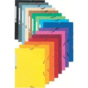 Exacompta 55500E - Chemise 3 rabats à élastique (24 x 32 cm)