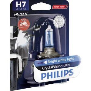Philips 12972CVUBW Crystalvision Ultra H7 Ampoule de Phare de Moto, 1 Pièce